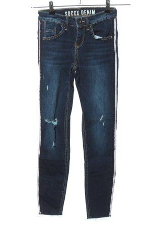 Soccx Röhrenhose blau Casual-Look