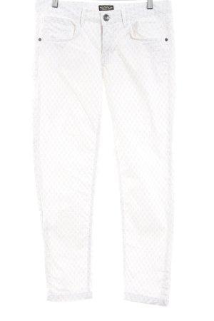 Soccx Röhrenhose wollweiß-beige Allover-Druck Casual-Look