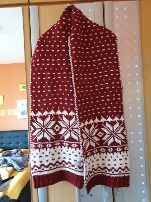 Soccx Woolen Scarf white-red