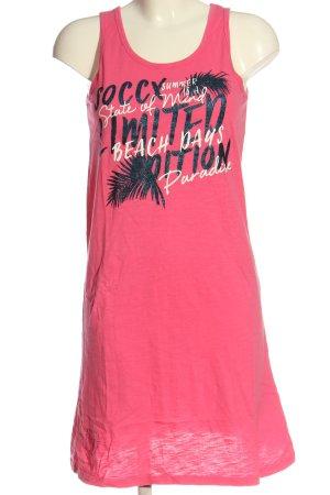 Soccx T-shirt jurk roze gedrukte letters casual uitstraling