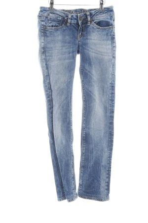 Soccx Skinny Jeans blau-weiß Casual-Look