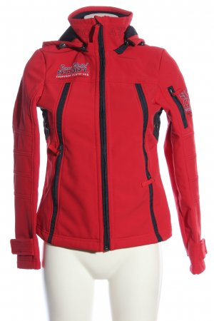 Soccx Softshell Jacket red-black casual look