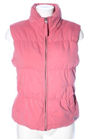 Soccx Gewatteerd vest roze casual uitstraling