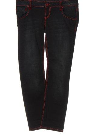 Soccx Jeans a gamba dritta nero stile casual