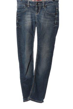 Soccx Jeans a gamba dritta blu stile casual
