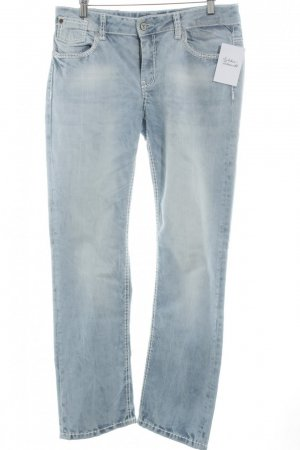 Soccx Straight-Leg Jeans blau Street-Fashion-Look
