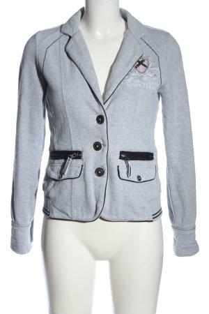 Soccx Sweat Blazer light grey-black flecked casual look