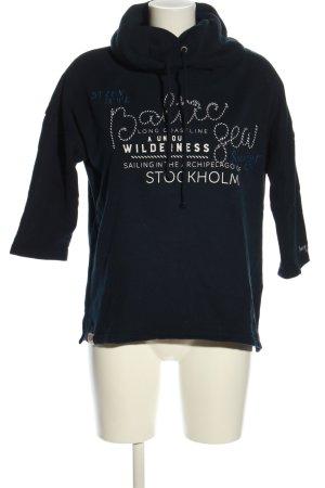 Soccx Sweatshirt Schriftzug gedruckt Casual-Look
