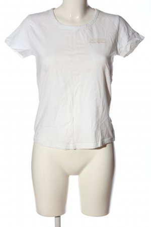 Soccx T-Shirt weiß-wollweiß Schriftzug gedruckt Casual-Look