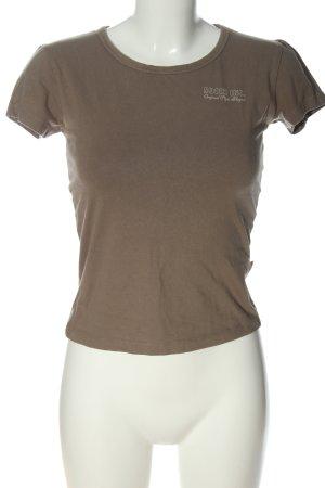 Soccx T-Shirt braun Schriftzug gedruckt Casual-Look