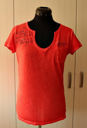 Soccx T-shirt rosso chiaro