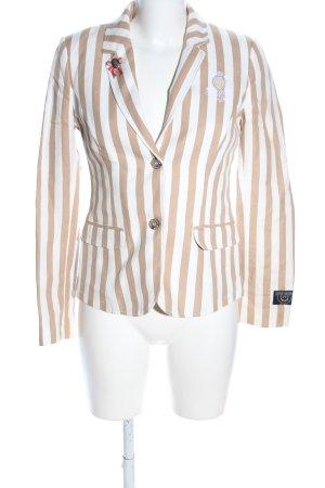 Soccx Tweed Blazer white-brown allover print business style