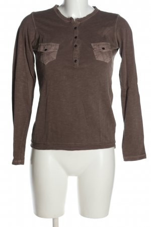 Soccx V-Ausschnitt-Shirt braun meliert Casual-Look