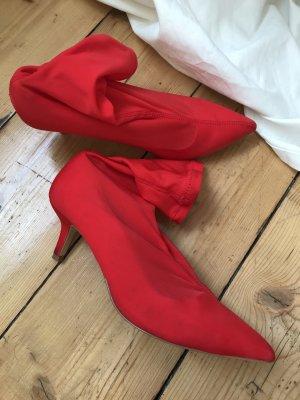 Sock Heels / Sock Boots H&M knallrot