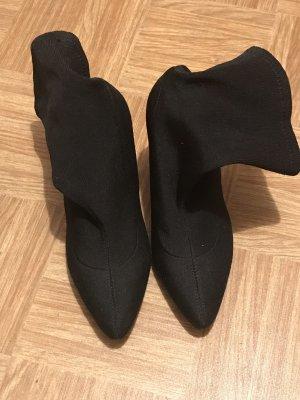 Sock high heel boots