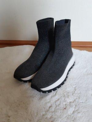 HM Sneaker slip-on bianco-argento