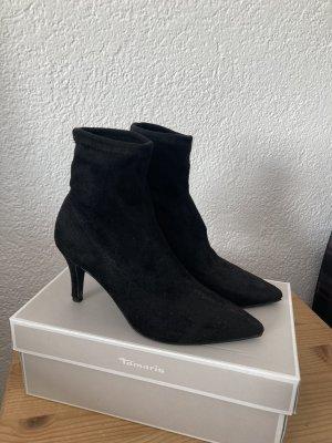 New Look Peep Toe Booties black