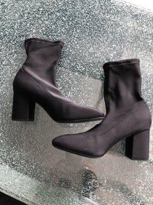 H&M Low boot noir tissu mixte