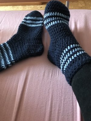 Handmade Scuffs dark blue