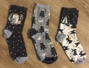 Socken in Winteredition