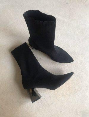 Socken Stiefel Schwarz Stiefeletten
