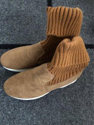 High Top Sneaker camel-beige