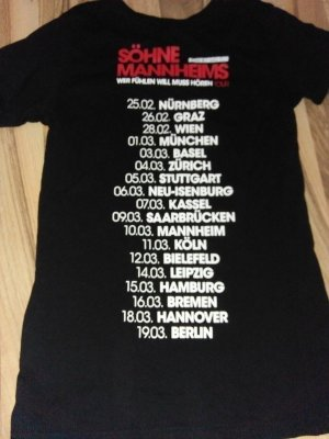 Söhne Mannheims Tour Shirt 36 Wer fühlen will muss hören 2014 Tourshirt