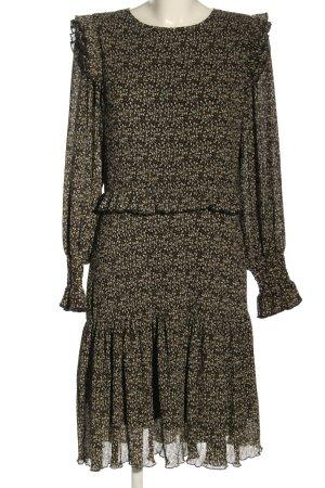 Sofie schnoor Blusenkleid schwarz-wollweiß abstraktes Muster Elegant