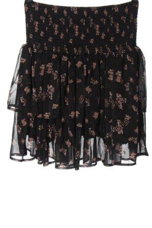 Sofie schnoor Flared Skirt black-pink flower pattern casual look