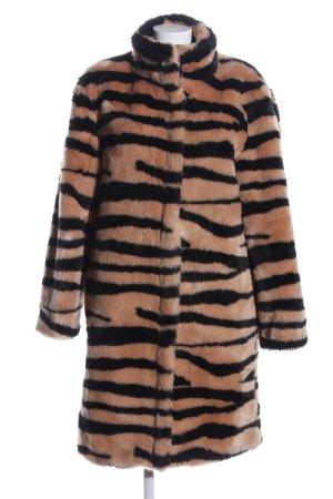 Sofie schnoor Cappotto in eco pelliccia color carne-nero motivo animale