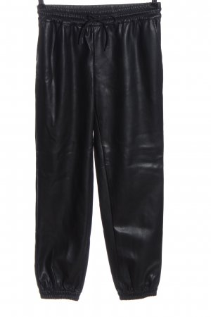 Sofie schnoor Faux Leather Trousers black casual look