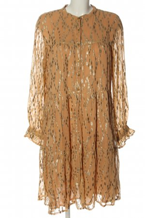 Sofie schnoor Langarmkleid braun abstraktes Muster Elegant