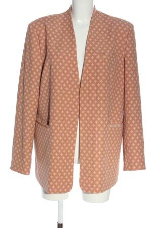 Sofie schnoor Long-Blazer braun-pink Allover-Druck Casual-Look
