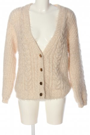 Sofie schnoor Knitted Cardigan nude cable stitch casual look