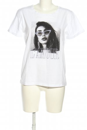 Sofie schnoor T-Shirt weiß-schwarz Motivdruck Casual-Look