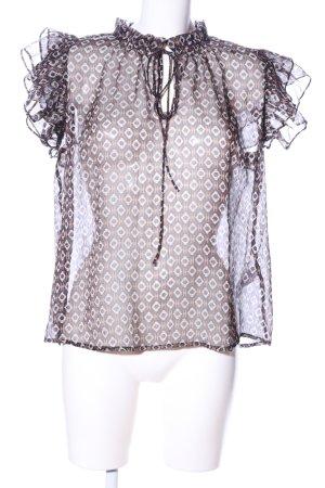 Sofie schnoor Transparenz-Bluse abstraktes Muster Elegant
