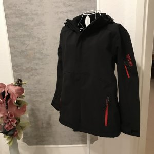 Softshell Jacket black-red spandex