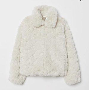 Hennes Collection by H&M Veste de fourrure blanc cassé
