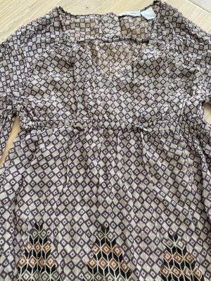 Soft Grey Blusa in seta multicolore Seta