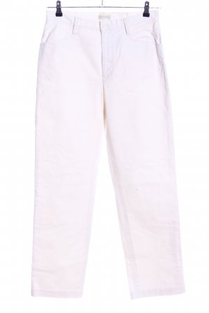Soft Grey Straight-Leg Jeans wollweiß Casual-Look