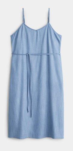 Violeta by Mango Robe en jean bleu azur