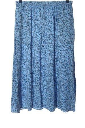 Soft Rebels Jupe longue bleu-noir imprimé allover style décontracté