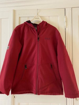 Jack Wolfskin Softshell Jacket neon red-dark red