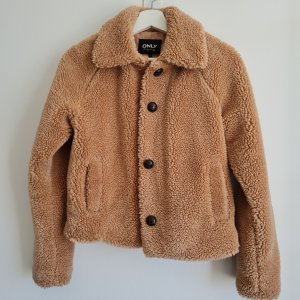 Only Fake Fur Jacket brown mixture fibre