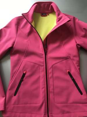 Giacca softshell rosa-giallo neon Poliestere