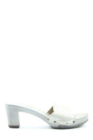 Softclox Mule à talon blanc cassé motif animal style décontracté