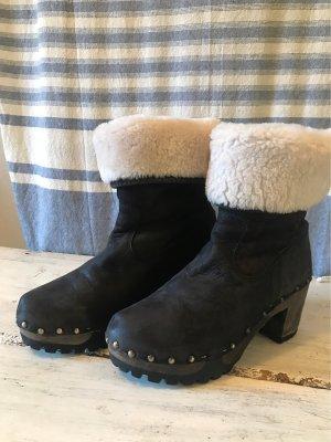 Softclox Buty zimowe czarny Skóra