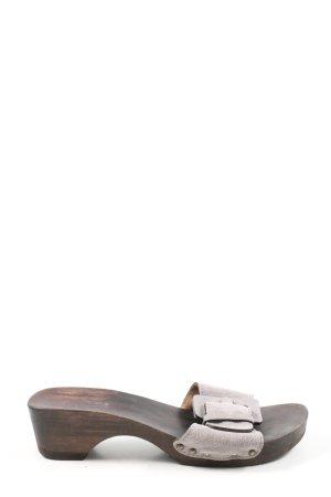 Softclox Sandalias tipo clog marrón-gris claro look casual