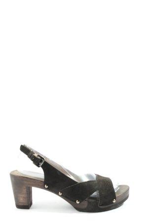 Softclox High Heel Sandaletten schwarz Casual-Look