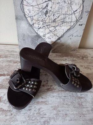 Softclox Sandalias con tacón marrón oscuro